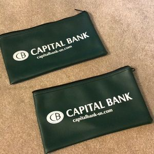 Handbags - 2-4-1 capital bank money bags